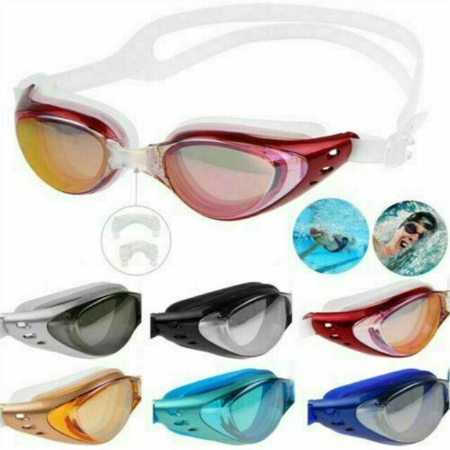 Goggles Swim Swimming Anti Fog Uv Glasses Adult Protection Goggle Clear V