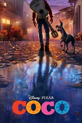 COCO DISNEY PIXAR MOVIE POSTER FILM A4 A3 ART PRINT CINEMA #4