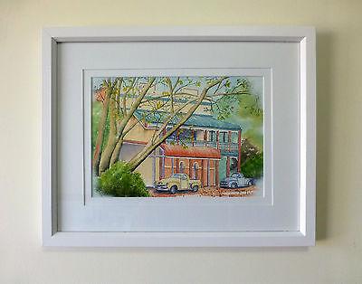 "Framed Original Watercolour ""The Pinjarra Pub"", Pinjarra, Western Australia"