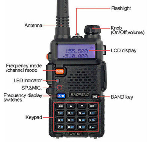 Two Way Radio Scanner Handheld Police Fire Transceiver Portable F-Antenna HAM FH