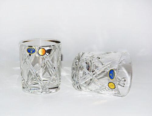 6 Whiskygläser 320 ml. Neu /& OVP HANDGESCHLIFFEN DEKOR Bohemia Bleikristall