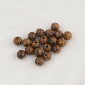 100-pcs-Brown-Wood-Spacers-Loose-beads-Necklace-Bracelets-Charms-Findings-8mm