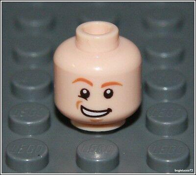 Lego Harry Potter x1 Light Flesh Head Smile Smirk City Boy Man Minifigure NEW