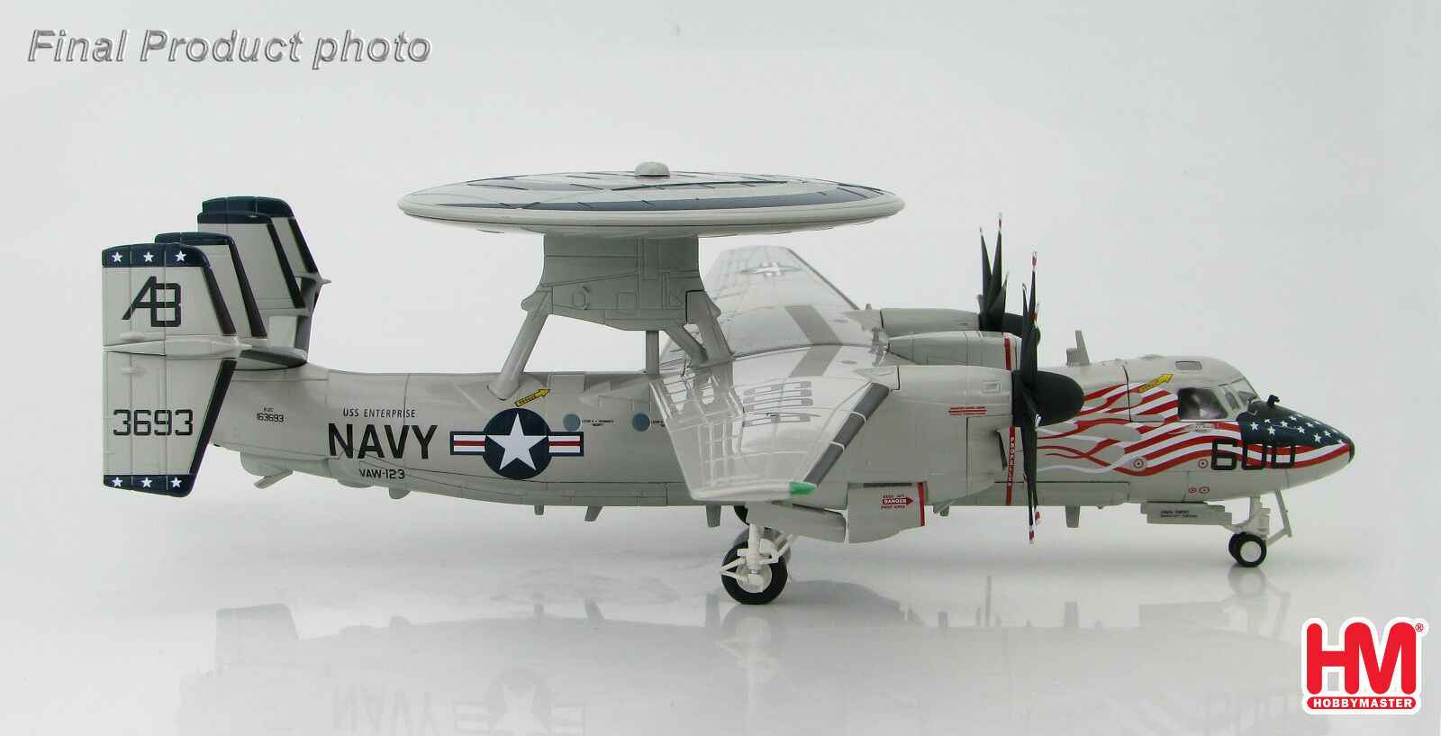 Hobby Master 172 HA4801 E-2C 2018 VAW- Hawkeye screwtops USS Enterprise