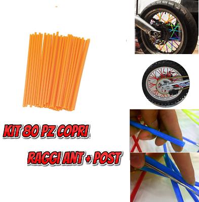 80 Copri Raggi Ruote Cerchi Arancioni Universali Per Moto Enduro Cross Vintage Het Verlichten Van Reuma