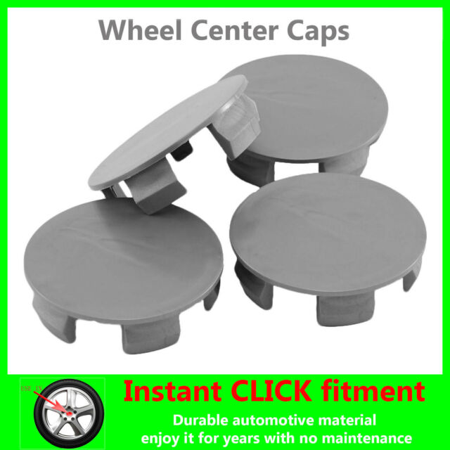 4x WHEEL Center CAPS Universal HUB Rims HUBCAPS ALL Sizes GRAY FREE SHIPPING