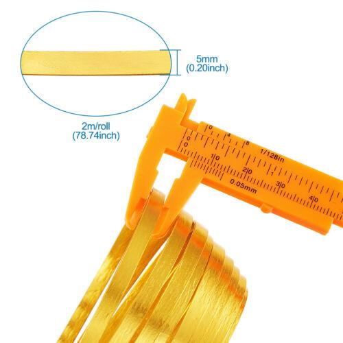 5 Roll Golden 5mm Flat Jewelry Craft Wire Aluminum Wire Jewelry Making 2m//Roll