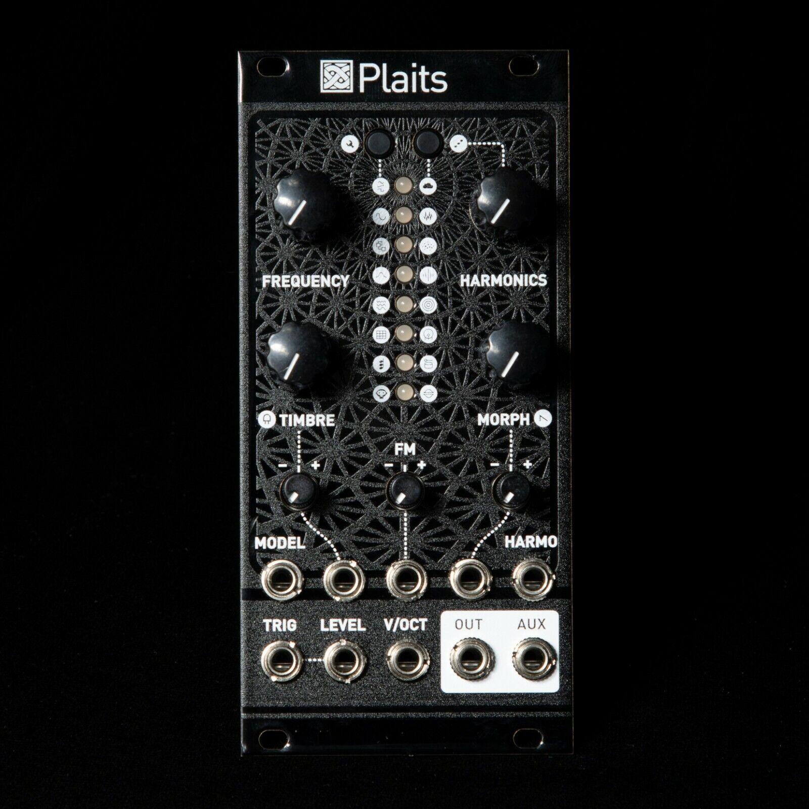 Mutable Instruments Plaits Eurorack Synth Oscillator Clone Module (schwarz Magpie)