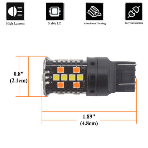 informafutbol.com 2pcs No Resistor Switchback Front Turn Lights ...
