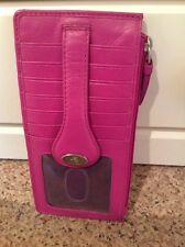 VISCONTI PINK CARDHOLDER WITH PURSE POUCH BARELY USED GOOD CONDITION