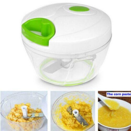 Manual Food Processor Vegetable Meat Chopper Shredder Slicer Mincer Tool HOT