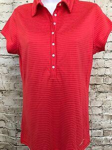 Abacus Women s Golf Polo Shirt Size M Cap Sleeve Striped  1a029cc93d73