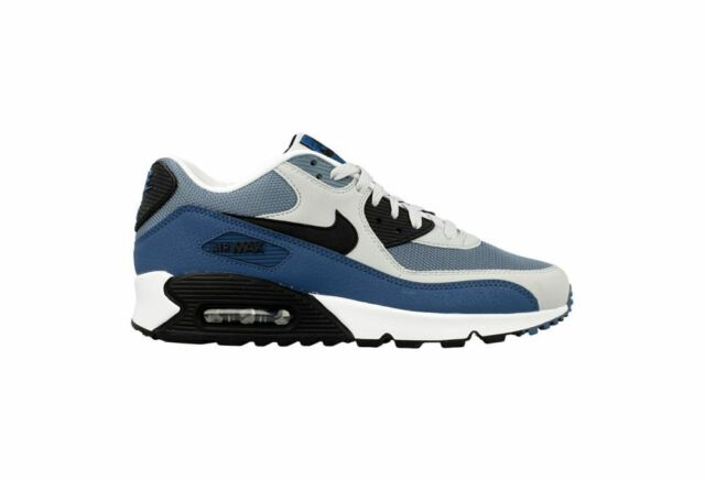newest 6d896 113bb Size 13 Nike Men Air Max 90 Essential Running Shoes 537384 042 Blue White  Black