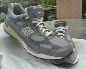 7eb66fbc0654 Mens NEW BALANCE Grey Suede Leather 992 Tennis Shoes Sneakers Made ...