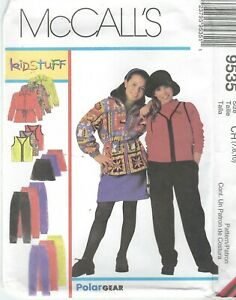 McCall-039-s-9535-Girls-039-Jacket-Vest-Skirt-and-Pants-7-8-10-Sewing-Pattern