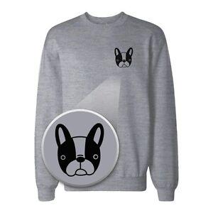 French-Bulldog-Pocket-Print-Sweatshirt-Back-To-School-Sweat-Shirt
