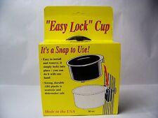 "BIRD CAGE, DOG CRATE WATER-FOOD CROCK 30 Oz. BLACK  ""Easy Lock""  Cup"