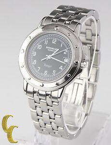 Raymond-Weil-Men-039-s-Stainless-Steel-Tango-Quartz-Watch-w-Black-Dial-amp-Date