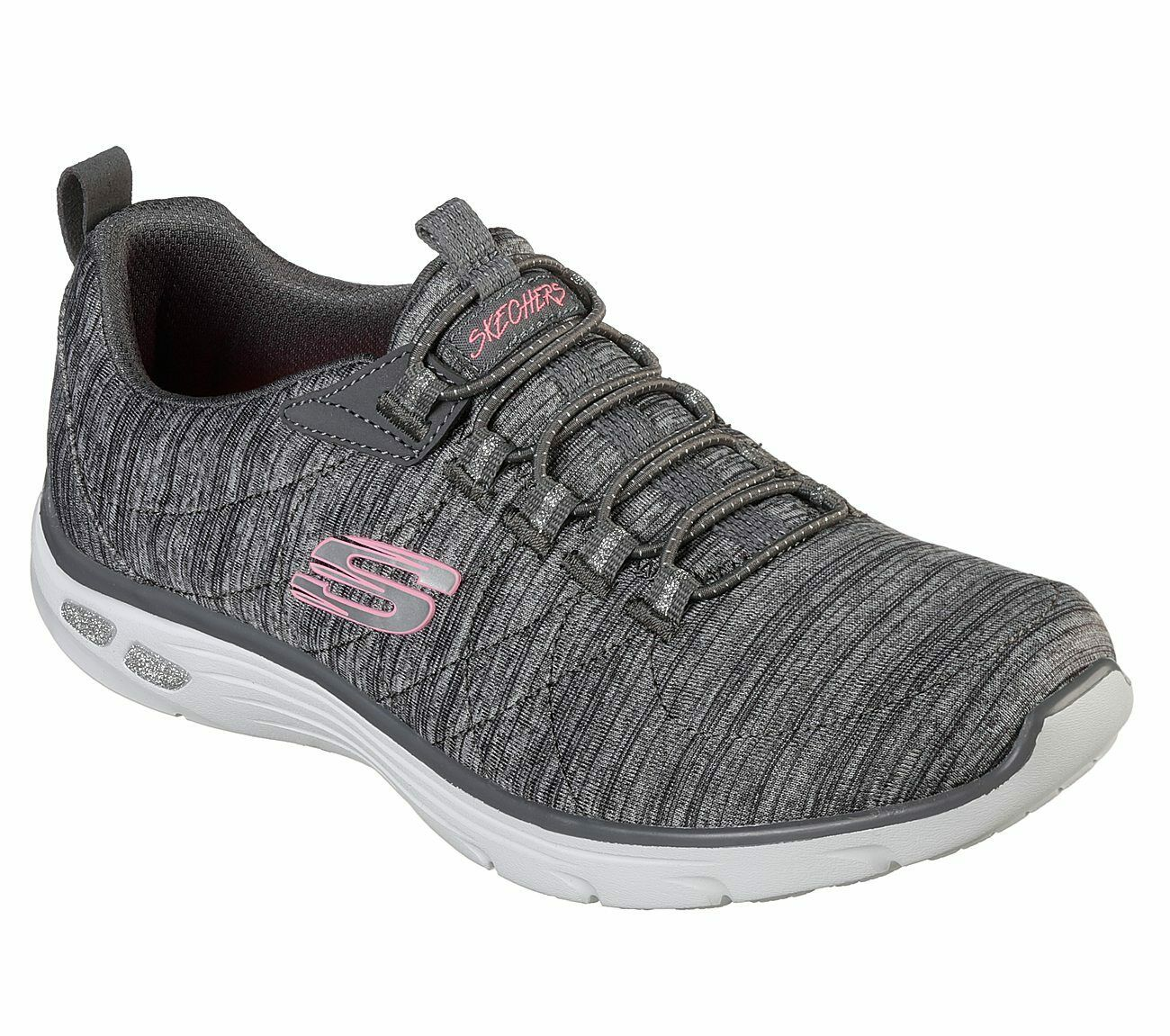 Skechers Comfortable Fit  Empire d' Lux Womens Sneakers Sporty Striped