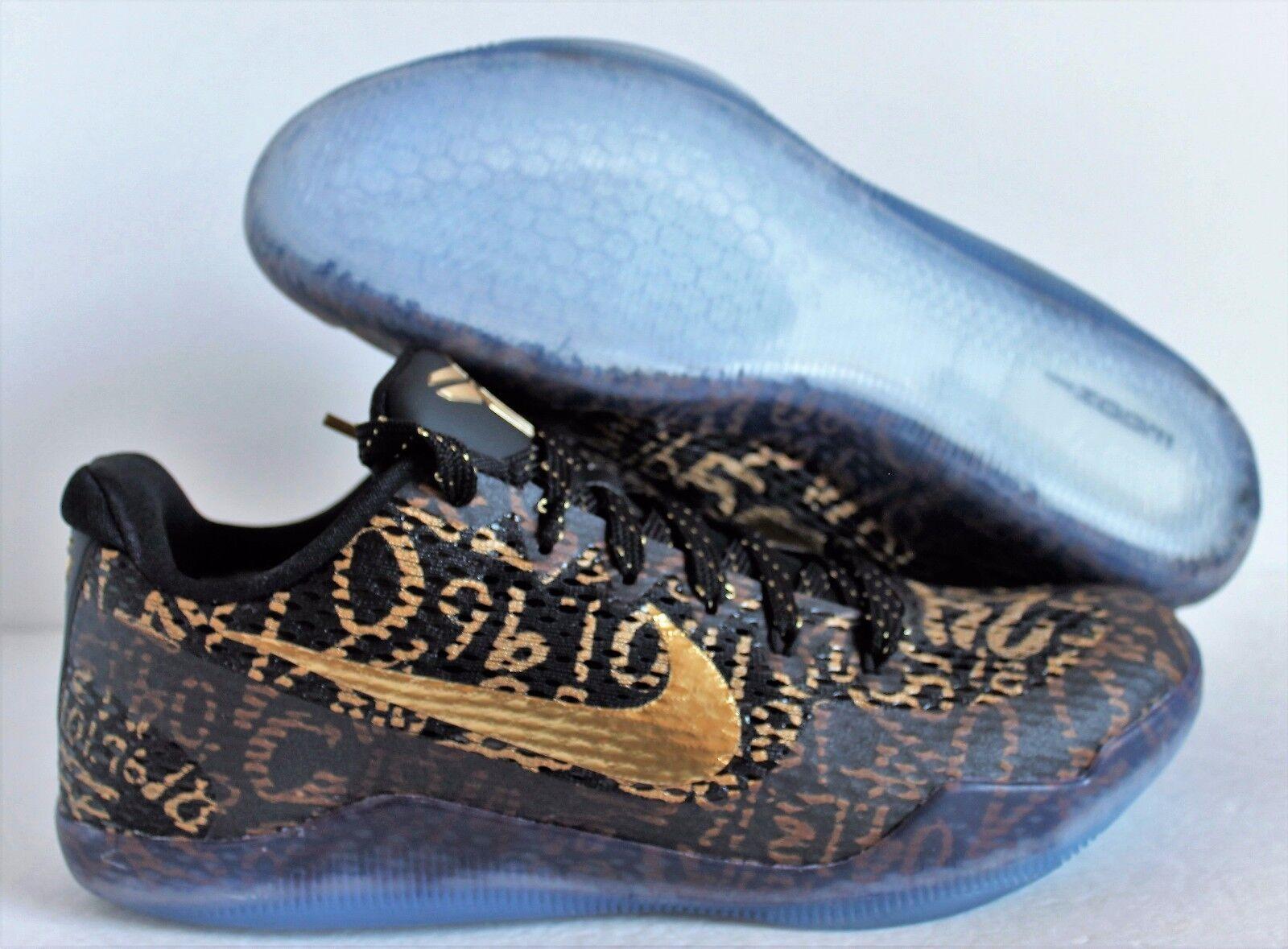Nike Kobe XI 11 9.5 ID MAMBA NegroOro Tamaño DAY 9.5 11 [865773991] d0d6b3