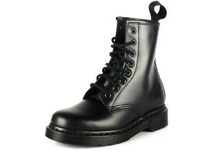 c7fdcc9a5766 Men s Dr Martens 1460 Mono 8 Eye Lace Up Boot All Black Smooth ...