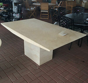 Actona Rectangle Travertine Marble Dining Table RRP EBay