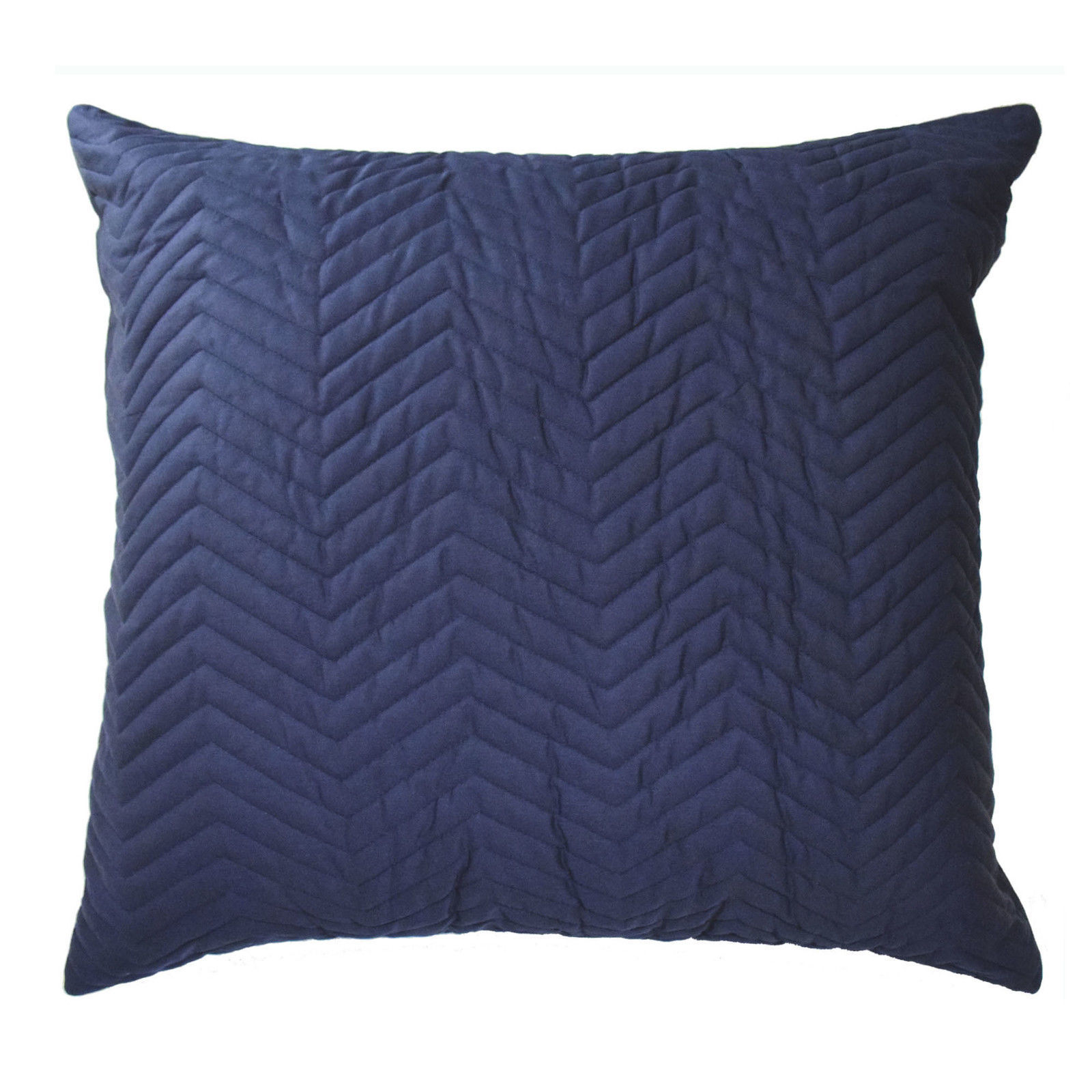 Blissliving Home Mexico City Francisco Quilted Euro Pillow Sham Navy