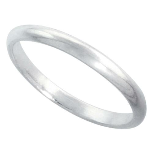 Sterling Silver .925 2mm Thin High Dome Wedding Band,Toe OR Thumb Ring Size 2-9