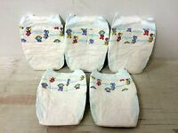 5 Vintage Pampers Baby-dry Plastic Diaper 1996 Size Newborn Reborn Ab/dl Collect