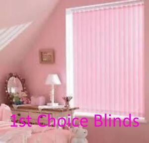 Details about MADE TO MEASURE VERTICAL WINDOW BLINDS BABY PINK GIRLS BEDROOM