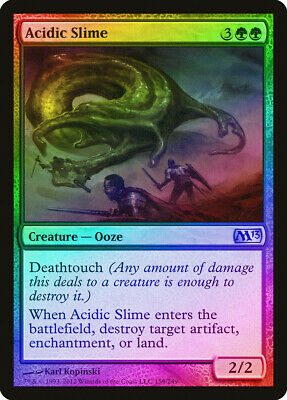 M13 PLD-SP Green Uncommon MAGIC MTG CARD ABUGames Acidic Slime FOIL Magic 2013