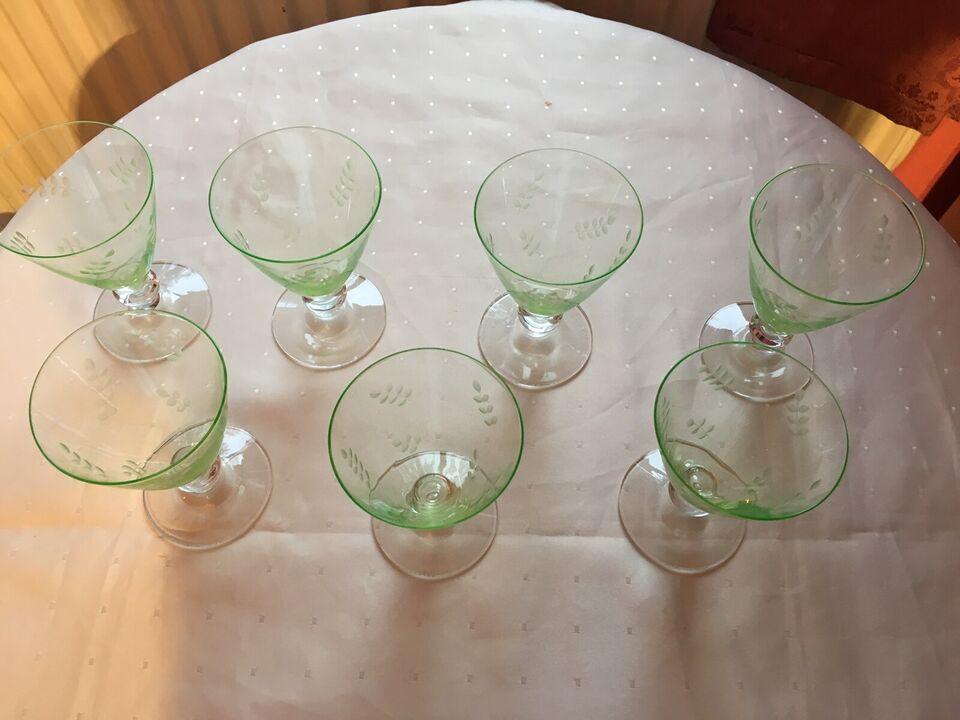 Glas, Grønne hvidvins glas