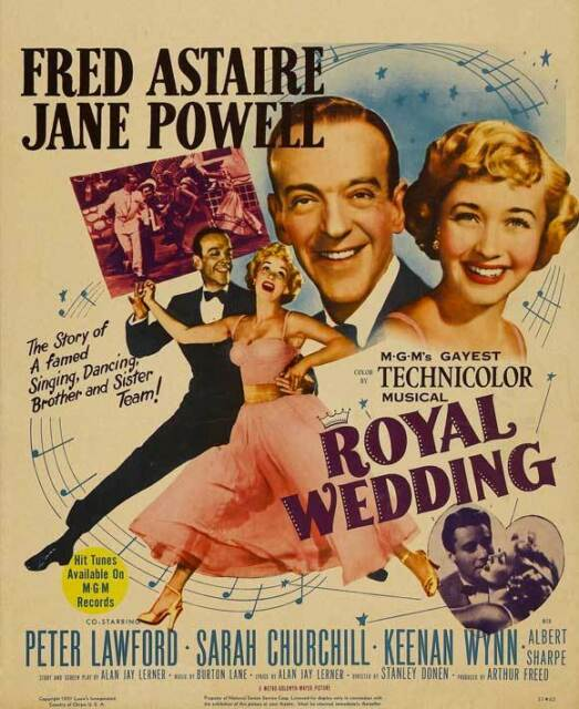 ROYAL WEDDING Movie POSTER 30x40 Fred Astaire Jane Powell Peter Lawford Sarah