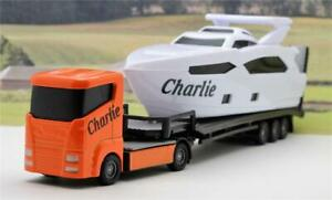 PERSONALISED-NAME-Gift-Boys-Toy-CRUISER-YACHT-BOAT-TRANSPORTER-LORRY-Present-Box