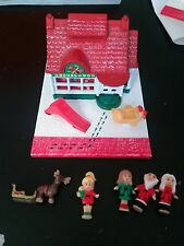 Vintage Polly Pocket Holiday Toy Shop COMPLETE Christmas 1993  Pollyville