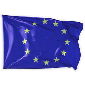 Europe European Union EU Flag Euro Blue with Yellow Stars Banner 90 x 150 CM