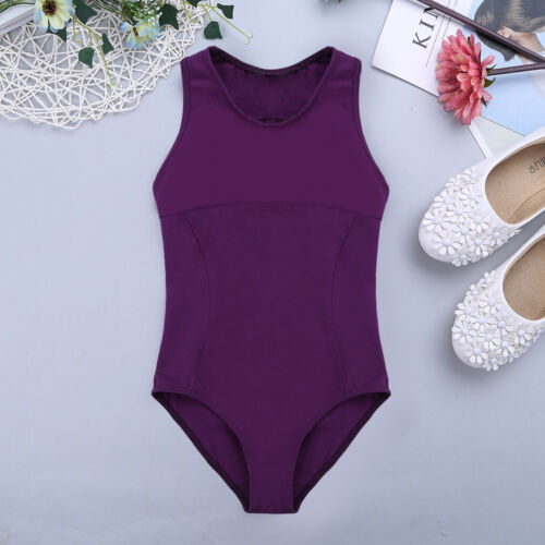 Girls Ballet Dance Camisole Leotard Gymnastic Cotton Tank Tops Dancewear Costume