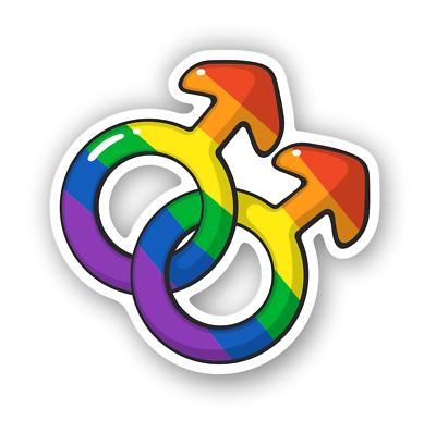 Gay Pride Women LGBT Rainbow Symbol Sticker for Auto Cars Trucks Decal