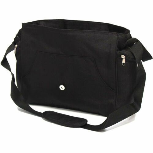 Baby Travel Zeta Changing Bag Plain BLACK Complete With Changing Matt
