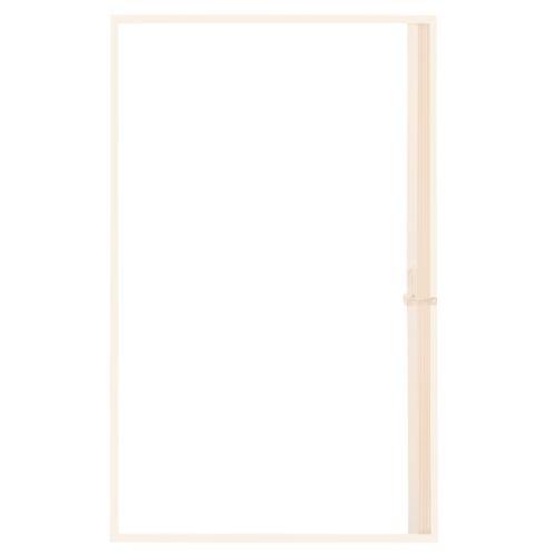 """RV Shower DoorsRV Pleated Folding Shower Doors Ivory 36/""""x 57/""""RecPro 3657"""