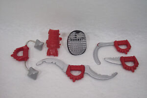 Accessoires-ACTION-MAN-1996-NINJA-Power-Arm-armes-gant-et-masque-a-grille