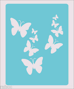 Stencil Butterflies Flying Scrapbook Crafts Paint Wall Decoration
