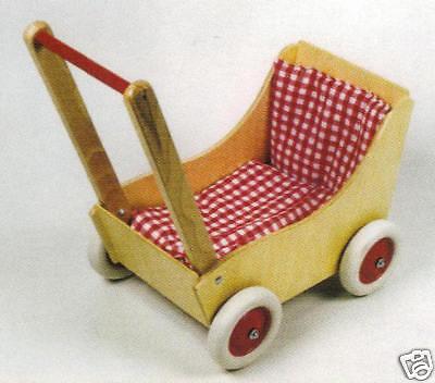 Ebert 350010 bambola Pram with Set 50x27x60 cm Wood Erzgebirge  nuovo     miglior prezzo