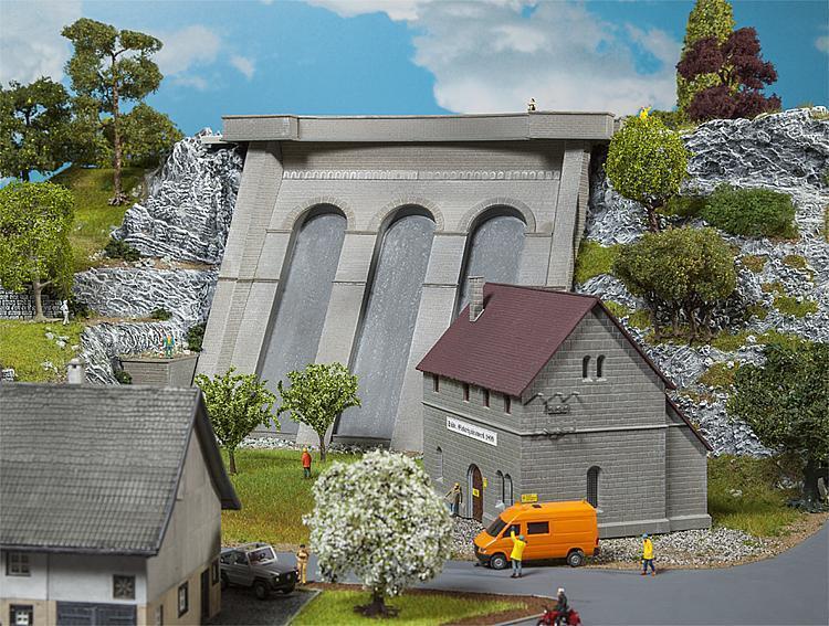 Faller H0 130943 Centrale Elettrica con Dam   Nuovo in Confezione Originale