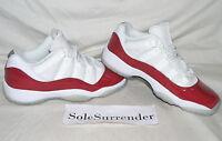 Air Jordan 11 Retro Low Bg - Size 4y - New- 528896-102 Cherry Red White Xi Og Gs