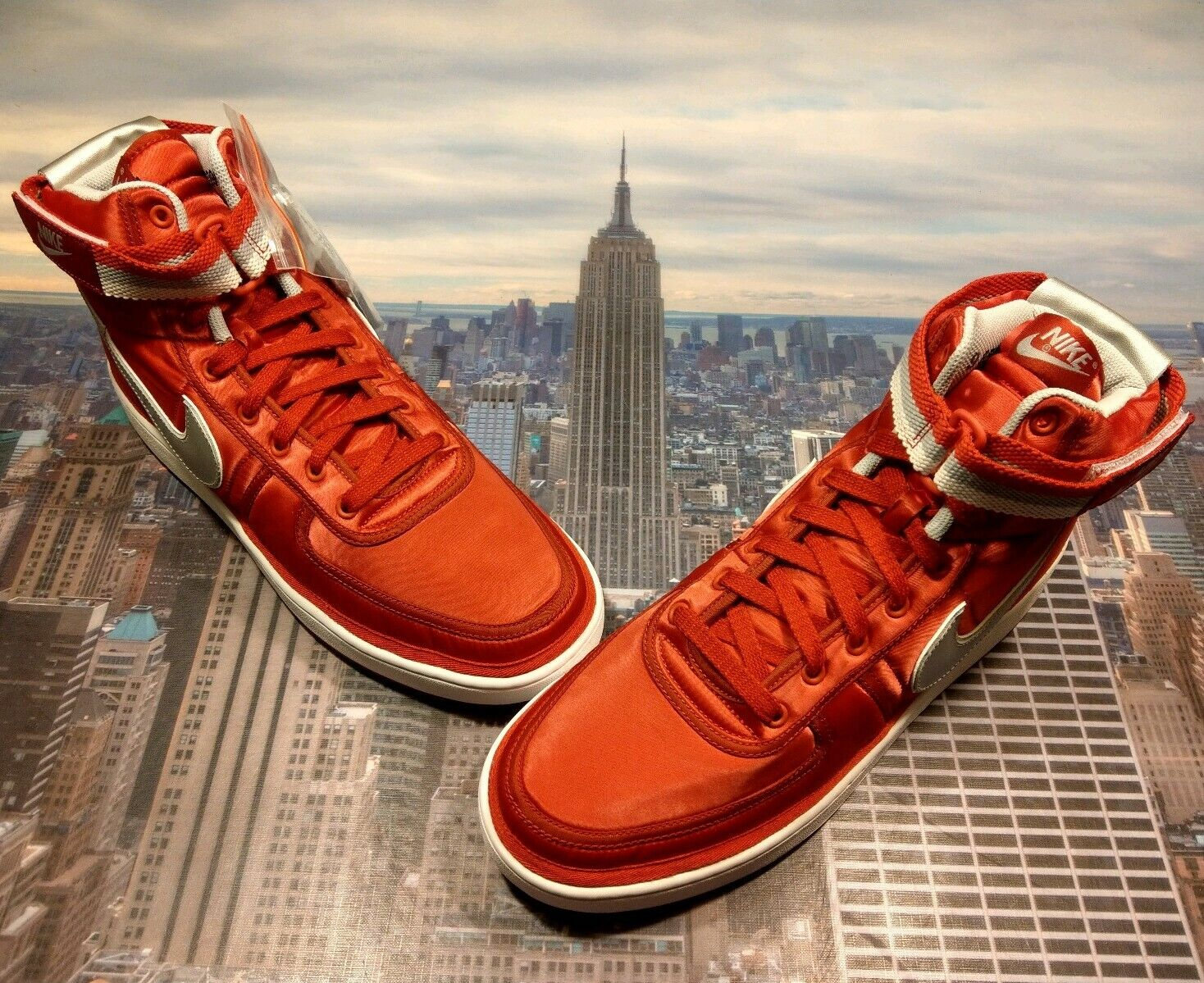 edd804ba6295 Nike Vandal High Supreme QS University Red Red Red Metallic Silver Size 14  AH8652 600 58d78f