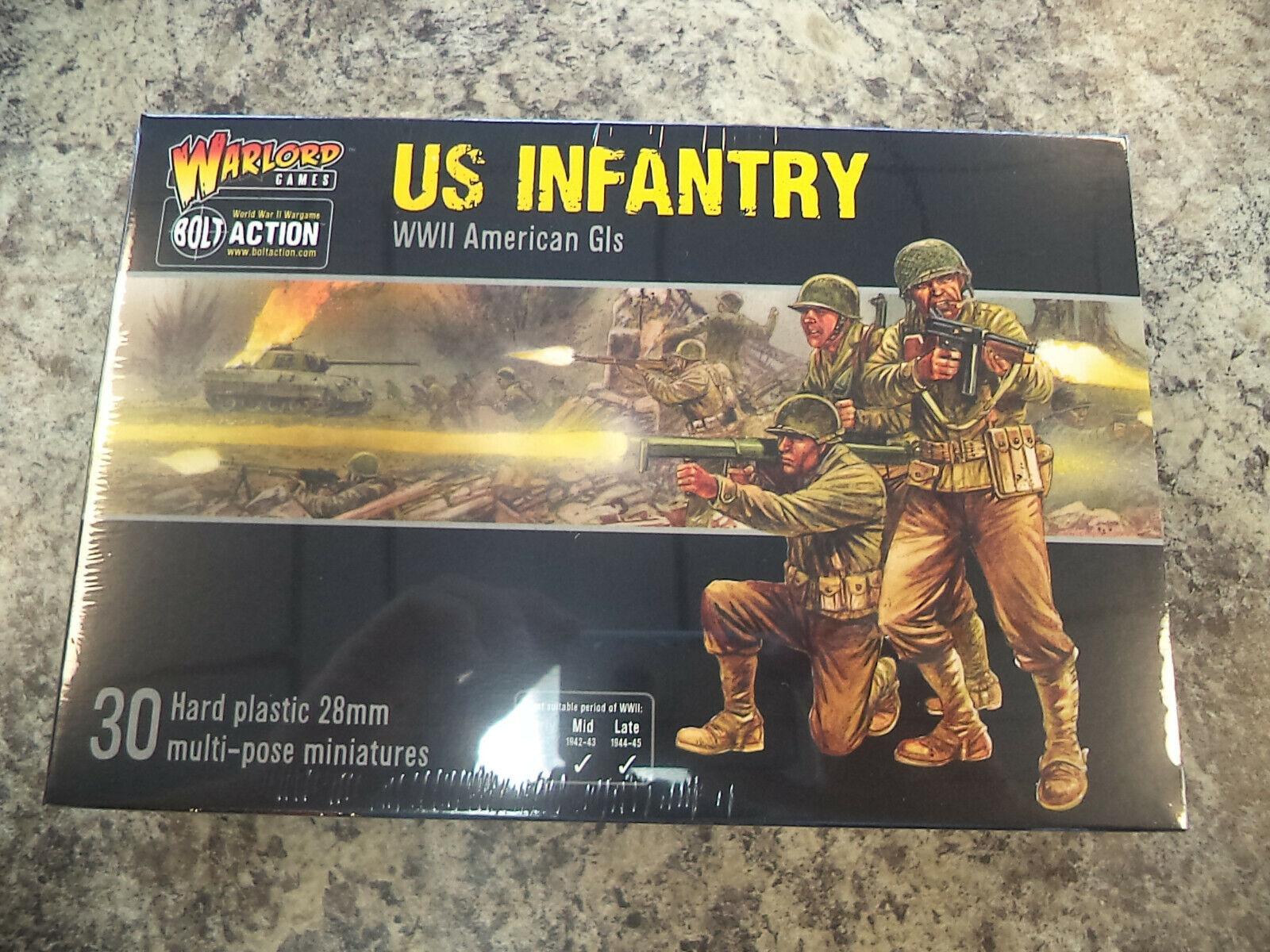 US Infantería Americana GIS las tropas estadounidenses Perno de acción de la Segunda Guerra Mundial Modelo Warlord Juegos  nuevo