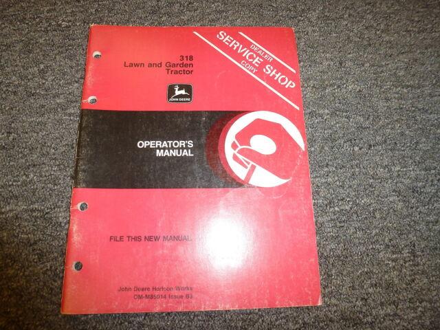 John Deere 318 Bagger Manual Guide