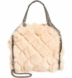 339ca7cc961af Image is loading NEW-Stella-McCartney-Falabella-Quilted-Faux-Fur-Mini-