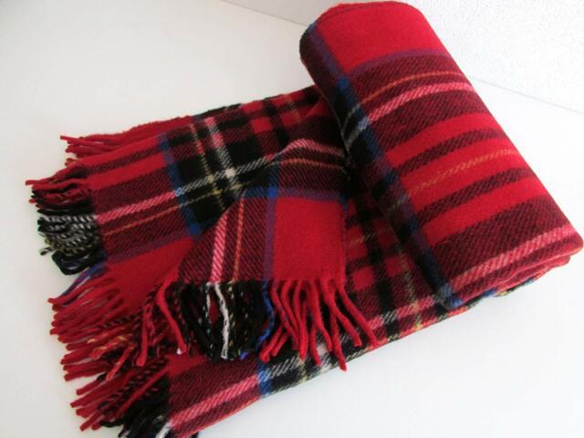 Wool Blanket English Fringe Cover Plaid Wool Plaid Bedspread 100% Wool 155x200cm